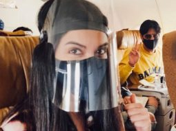 Diana Penty and Sidharth Malhotra wear face shields and show what it's like flying in COVID-19 times