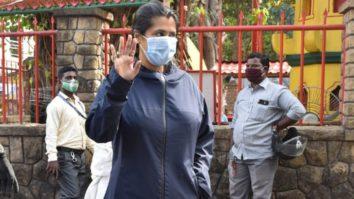 Ekta Kapoor spotted at Shani Temple Juhu