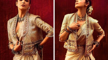 GOLDEN AFFAIR! Malaika Arora looks majestic in ethnic fusion Tarun Tahiliani ensemble