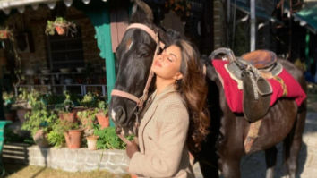 "Jacqueline Fernandez shares a glimpse of her ""Happy Place"" as she starts shooting for Bhoot Police"