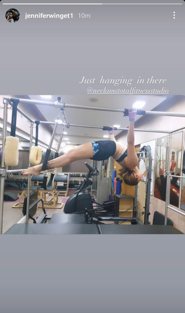 Jennifer Winget's latest mid-air Pilates pose is all the ...