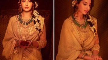 Nora Fatehi is captivating and regal in traditional Tarun Tahiliani lehenga during Diwali