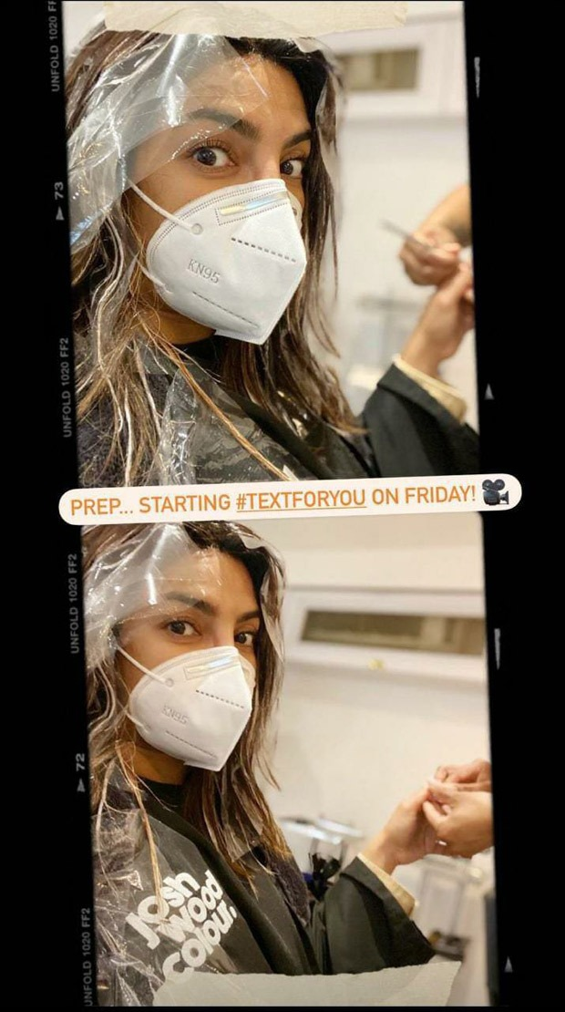 Priyanka Chopra gets her hair and nails done before she kicks off Hollywood film Text For You on November 27