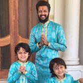 Riteish Deshmukh recycles his mother's old saree to make Diwali outfits for himself and his kids