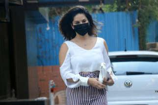 Sunny Leone spotted at Juhu salon