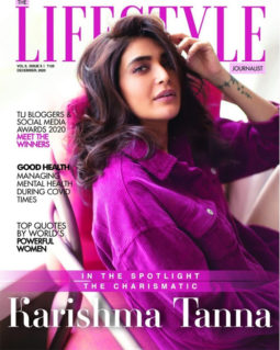 Karishma Tanna on the cover of The Lifestyle Journalist, Dec 2020