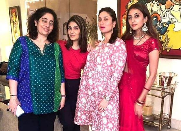 Kareena Kapoor Khan says 'Ladies and no Gentlemen' as she poses with her family on Karwa Chauth