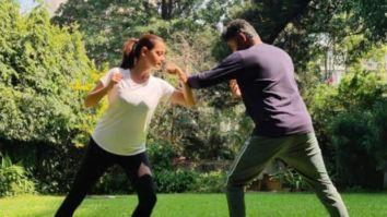Dia Mirza learns Kalaripayattu for an upcoming project; says she is loving it
