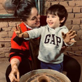 Kareena Kapoor Khan and Taimur try their hand at pottery; the little one is amused and happy