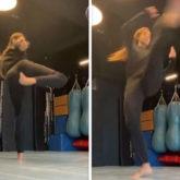 Disha Patani kickstarts the weekend with the perfect snap spin tornado kick