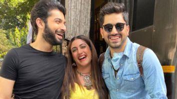 Zain Imam meets Naagin 5 stars Surbhi Chandna and Sharad Malhotra, the trio poses happily