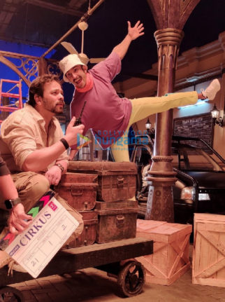 On the sets of the movie Cirkus