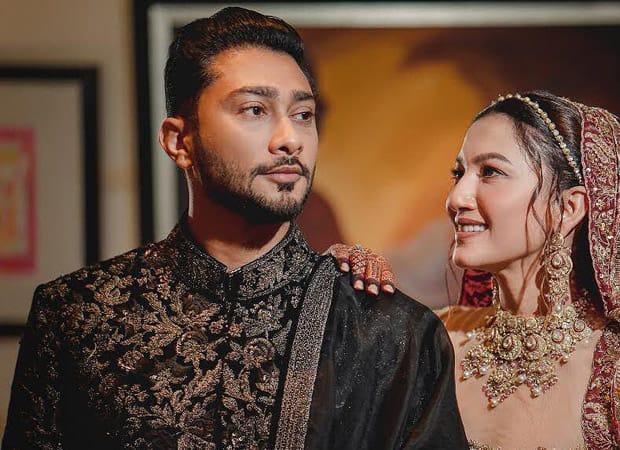 Gauahar Khan looks ethereal in Saira Shakira at her wedding