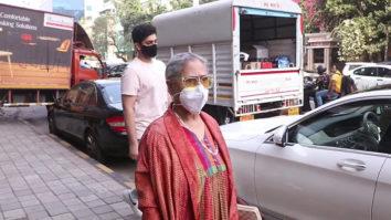 Jaya Bachchan with Agastya Nanda snapped at Nike store, Khar
