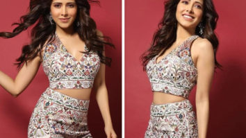 Nushrratt Bharuccha brings fun and fusion with printed co-ords from Sonaakshi Raaj's festive collection