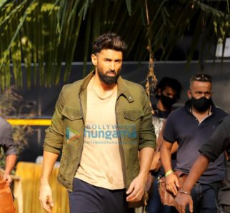 On the sets of the movie Om The Battle Within