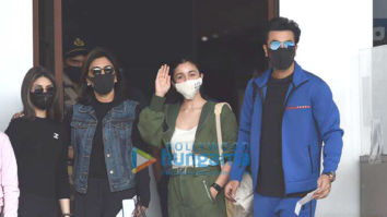 Photos: Ranbir Kapoor, Alia Bhatt, Neetu Singh and Riddhima Kapoor Sahani snapped at the Kalina airport