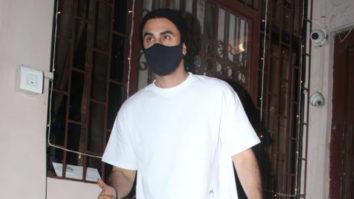 Ranbir Kapoor Snapped At Dubbing Studio Bandra