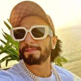 Ranveer Singh shares a beach selfie wearing a pearl necklace, Arjun Kapoor comments 'Baba tu heera nahi moti hai'