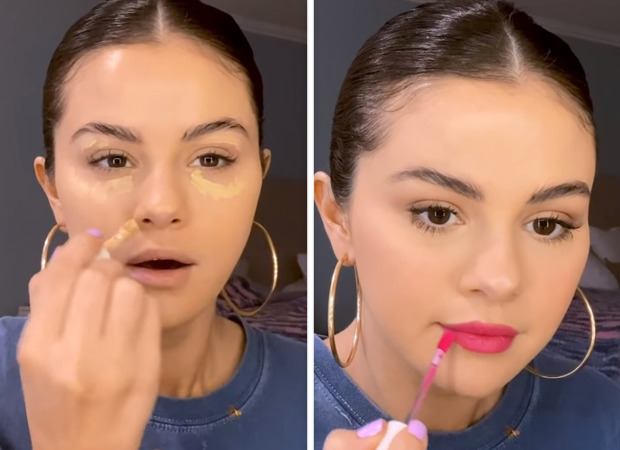 Selena Gomez' latest makeup routine with pink lips using Rare Beauty is perfect daytime look