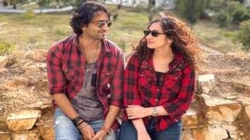 Shaheer Sheikh and wife Ruchikaa Kapoor twin in plaid shirts on their honeymoon in Bhutan