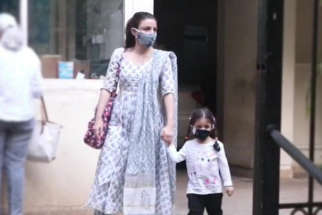 Soha Ali Khan with her kid spotted at Bandra