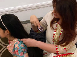 Twinkle Khanna posts a picture a witty caption while making sure her daughter Nitara looks perfect