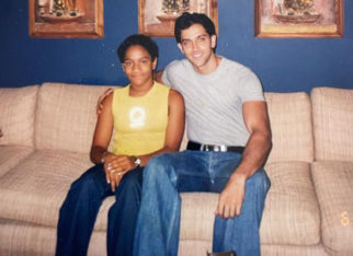 Masaba Gupta shares a twenty year old picture with Hrithik Roshan; says she looked like a smug little boy