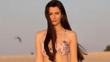 Giorgia Andriani turns up the heat as she poses in a pastel bikini