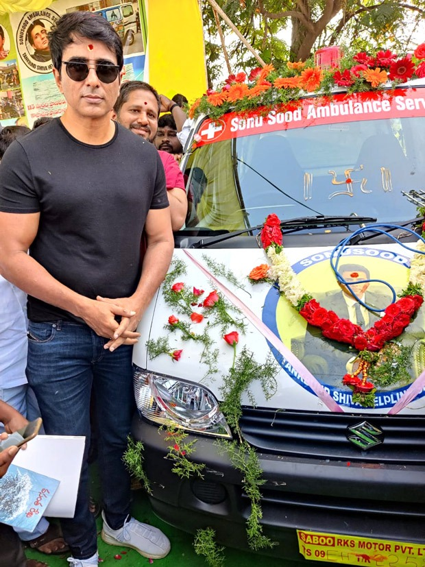 Ambulance service started in Telangana under Sonu Sood's name to help Underprivileged patients across cities and villages