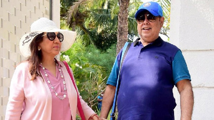 David Dhawan with family leaving from Alibaug