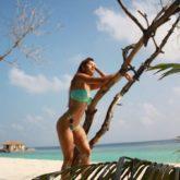 Disha Patani looks like a tropical queen as she poses in her blue bikini