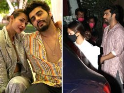 Malaika Arora drops in to meet beau Arjun Kapoor on the sets of Bhoot Police