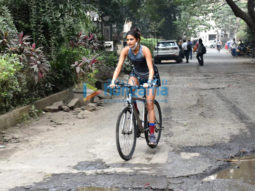 Photos: Aahana Kumra snapped cycling
