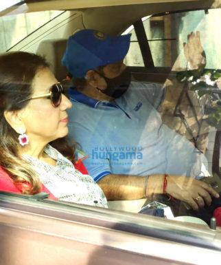 Photos: David Dhawan and family leave for Varun Dhawan's wedding in Alibaug