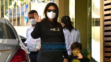 Photos: Kareena Kapoor Khan spotted at Karisma Kapoor's house with Taimur Ali Khan