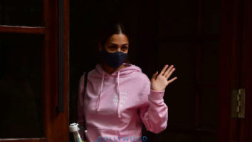 Photos: Malaika Arora spotted at Karan Johar's house in Bandra