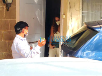 Photos: Natasha Dalal leaves with her family left for Alibaug