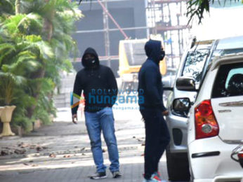 Photos: Varun Dhawan spotted outside his house leaving for Alibaug