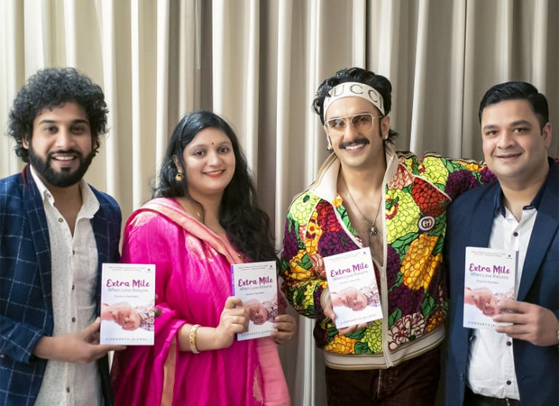 Ranveer Singh launches a romantic novel Extra Mile When Love Returns written by Siddharth Jaiswal, Mumbai's Deputy Commissioner