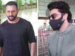 Saif Ali Khan & Arjun Kapoor leave for the shoot of movie Bhoot Police