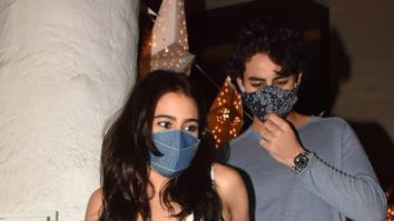 Sara Ali Khan and Ibrahim Ali Khan don aesthetic attires for their dinner
