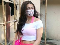 Sara Ali Khan spotted with her gym trainer Namrata Purohit in Santa Cruz