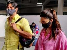 Sidharth Malhotra & Kiara Advani spotted at Airport