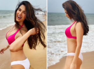 Sonal Chauhan is all smiles in white and pink during her holiday in Goa