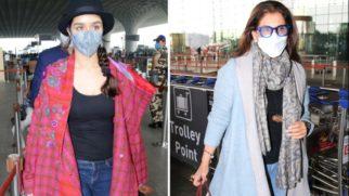 Spotted - Shraddha Kapoor and Dimple Kapadia at Airport