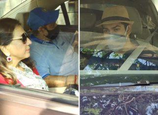 Varun Dhawan's parents David Dhawan, Karuna Dhawan, brother Rohit Dhawan, and family leave for Alibaug to kick off wedding festivities