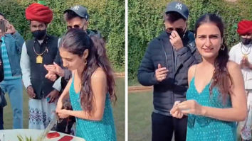 Fatima Sana Shaikh gets a Rajasthani celebration as she cuts her cake on the sets of her upcoming film, see videos