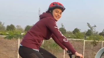 Rakul Preet Singh gives major fitness goals as she cycles for 12 km to reach the sets of MayDay; watch