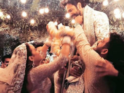 Inside pics: From Varun Dhawan's entry on a bike to the varmala ceremony; check out picture from Varun and Natasha Dalal's wedding